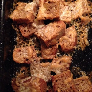 Tangy Sourdough and Cheddar Croutons...