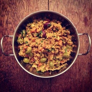 Sweet, spicy Moroccan cous cous