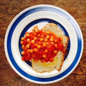 Hot Smokin' Chickpeas on Toast