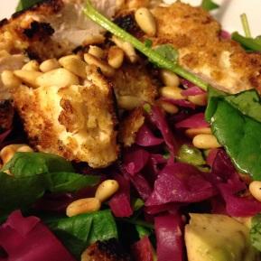 Chicken Schnitzel & SauerkrautSalad