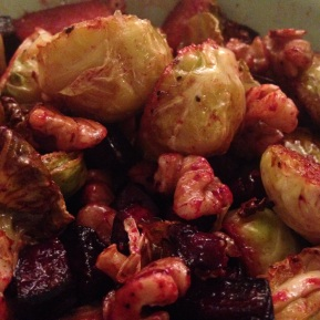 An Open Letter to Brussels Sprouts & Maple Roast Sprouts with Walnuts &Beetroot