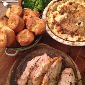Thyme & Orange Roast Chicken with Potato Gratin, A Short-Cut SundayRoast