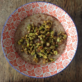 Salted Caramel Pistachio Oat Pudding (or porridge if you like?)