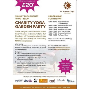 Charity Yoga Garden Party in aid of Mind